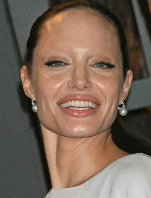 Angelina Jolie is growing old. Look at how she would look like without ...