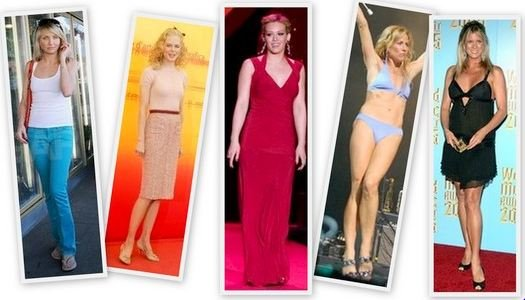 Rectangle Body Shapes How To Dress Swimsuits Jeans Celebrities
